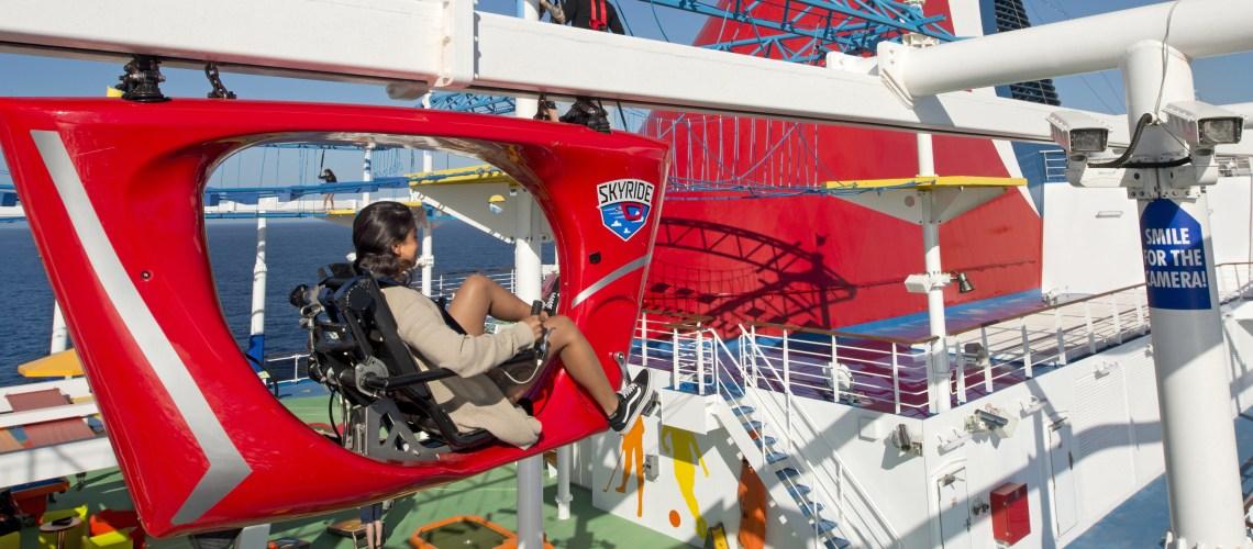 Carnival Horizon skyride girl