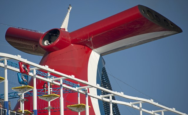 Carnival cruises Horizon cruise ship funnel