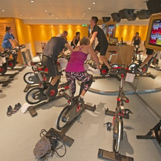 Carnival cruises Horizon cruise ship gym spinning class