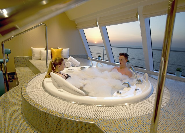 Carnival cruises Horizon cruise ship spa hot tub
