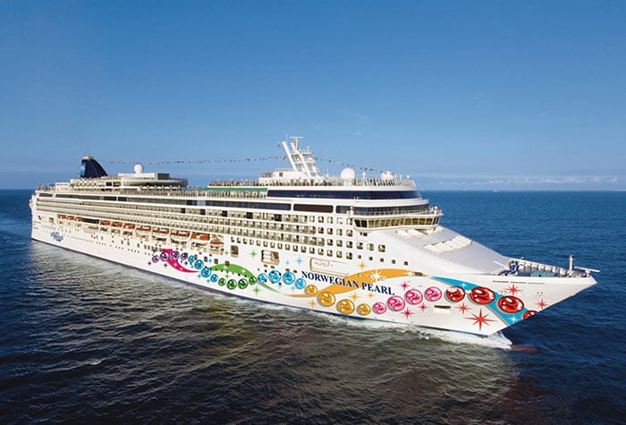 Norwegian cruises Pearl cruise ship starboard