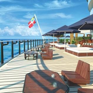 Virgin voyage cruises scarlet lady dock bar view