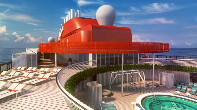 Virgin voyage cruises scarlet lady pool