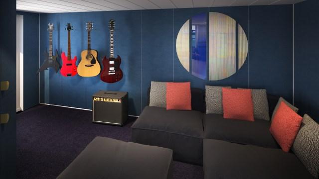 Virgin Voyages music room