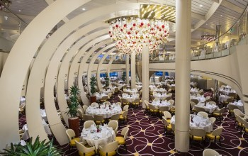 Holland America Nieuw Statendam cruise ship main dining room 4
