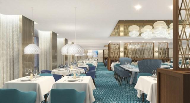 Celebrity Cruises Edge Cruise Ship Cyprus dining room