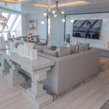 celebrity cruises edge cruise ship suite living room