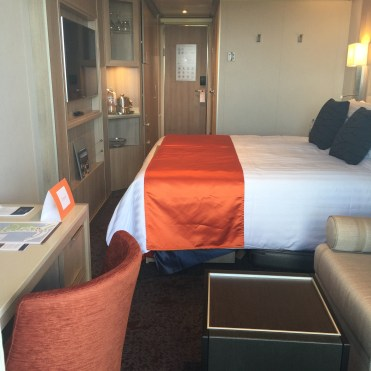 Holland America Statendam cruise ship balcony cabin bed