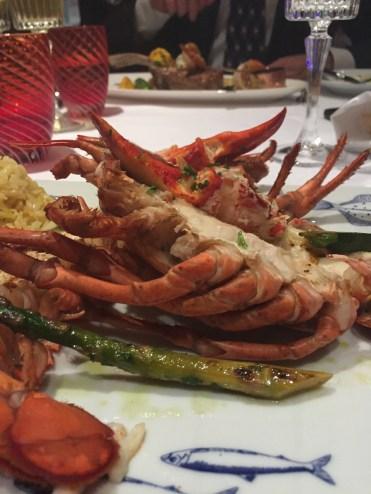 Holland America Statendam cruise ship dining room lobster dinner