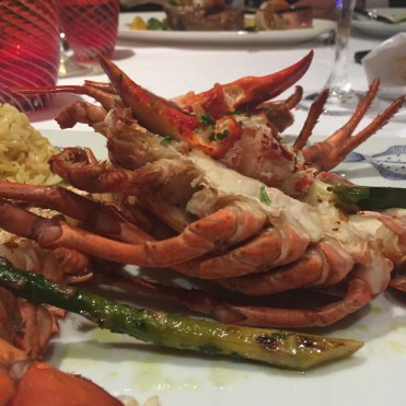 Holland America Statendam cruise ship dining room lobster dinner