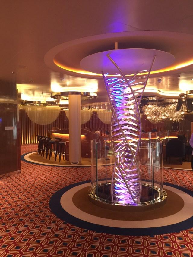 Holland America Statendam cruise ship chandelier lighting