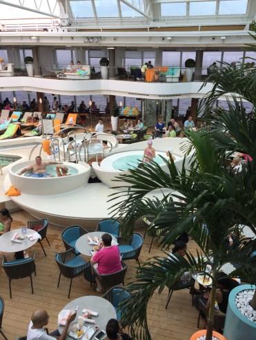 Holland America Statendam cruise ship hot tubs