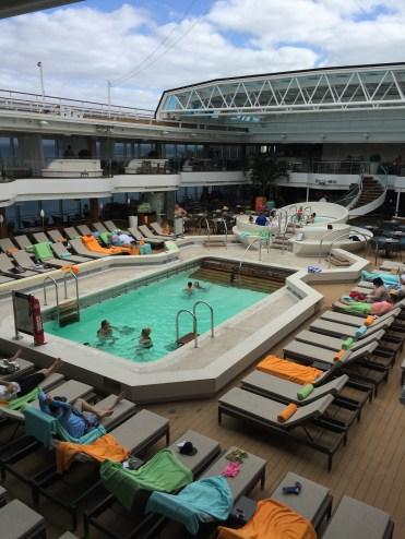 Holland America Statendam cruise ship mid ship swimming pool