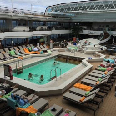 Holland America Statendam cruise ship mid ship swimming pool