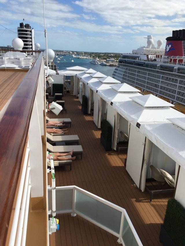 Holland America Statendam cruise ship retreat area private cabanas