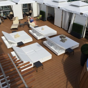 Holland America Statendam cruise ship retreat area loungers