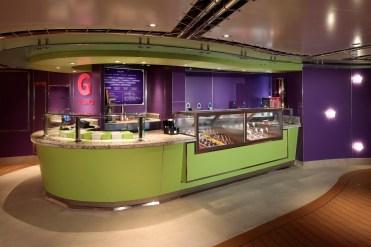Holland America cruise line Statendam cruise ship gelato bar