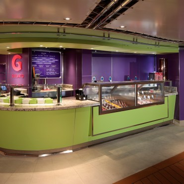 Holland America cruise line Statendam cruise ship gelato bar