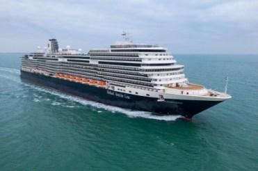 Holland America Statendam cruise ship aerial drone view