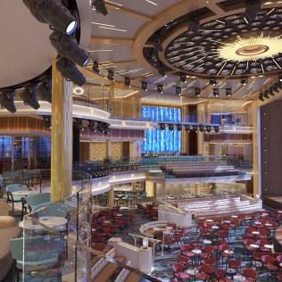 Carnival Cruises Mardi Gras atrium