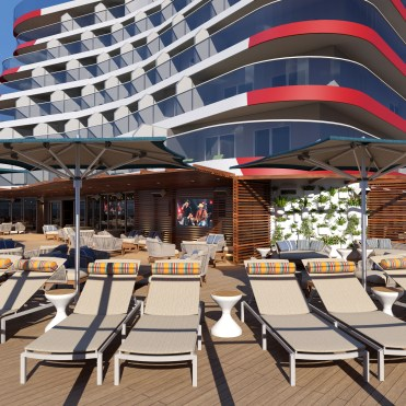 Carnival Cruises Mardi Gras outdoor aft deck