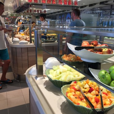 Holland America Statendam cruise ship buffet salad bar
