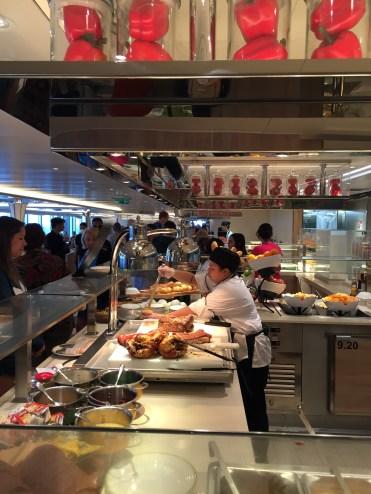Holland America Statendam cruise ship buffet rotisserie