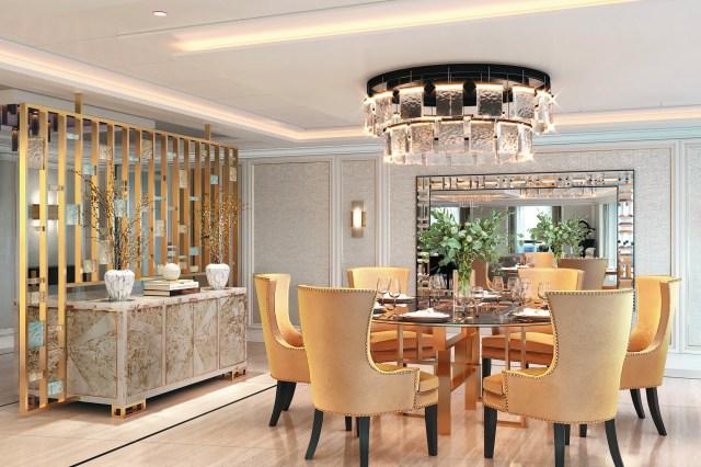 Regent suite dining area