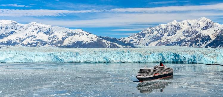 Cunard Queen Elizabeth in Hubbard Glacier