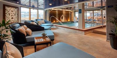 Cunard Queen Elizabeth spa hydro pool