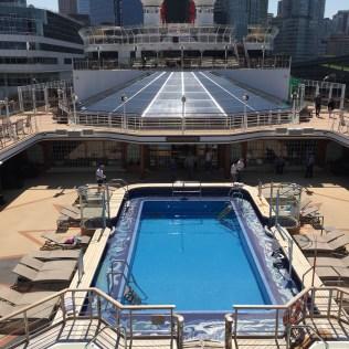 Cunard Queen Elizabeth docked in Vancouver