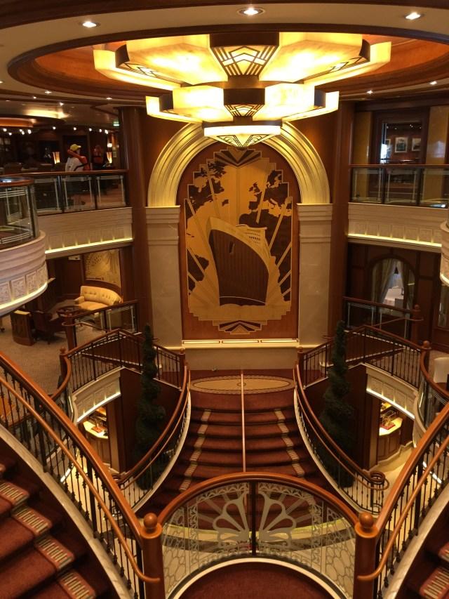 Cunard Queen Elizabeth Atrium staircase