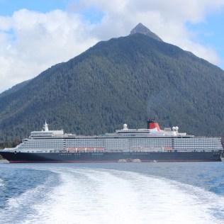 Cunard Queen Elizabeth docked in Sitka