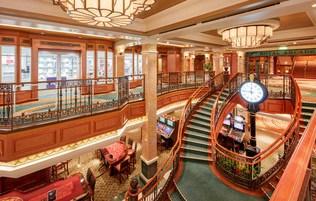 Cunard Queen Elizabeth Shops staircase