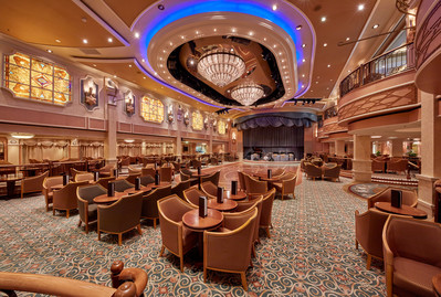 Cunard Queen Elizabeth Queens Room for tea