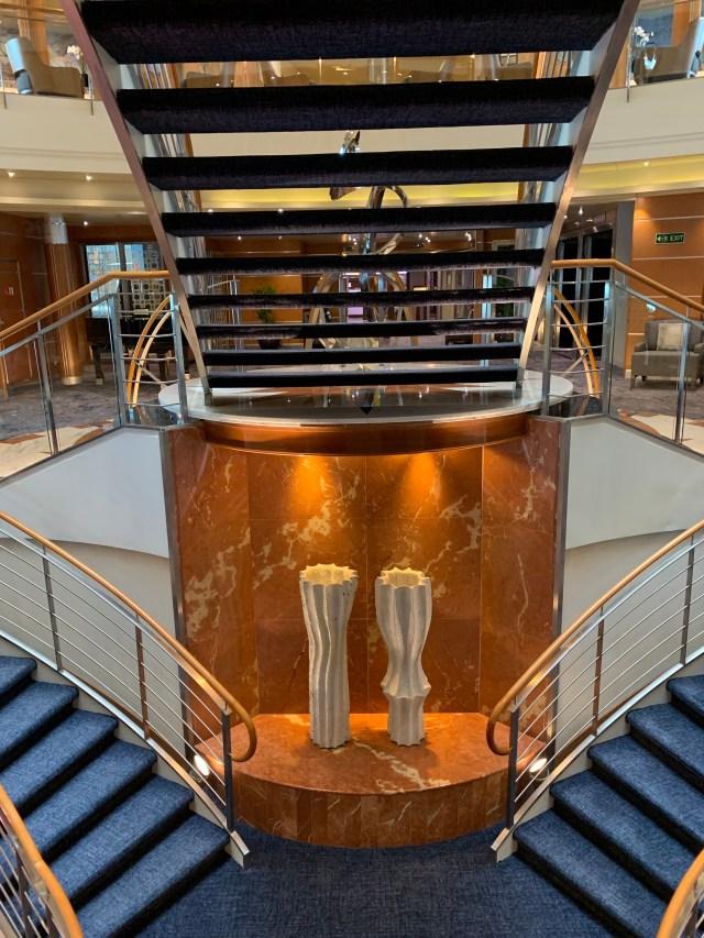 Regent Cruises Voyager atrium sculptures