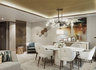 Crystal Cruises Endeavor Penthouse Livingroom