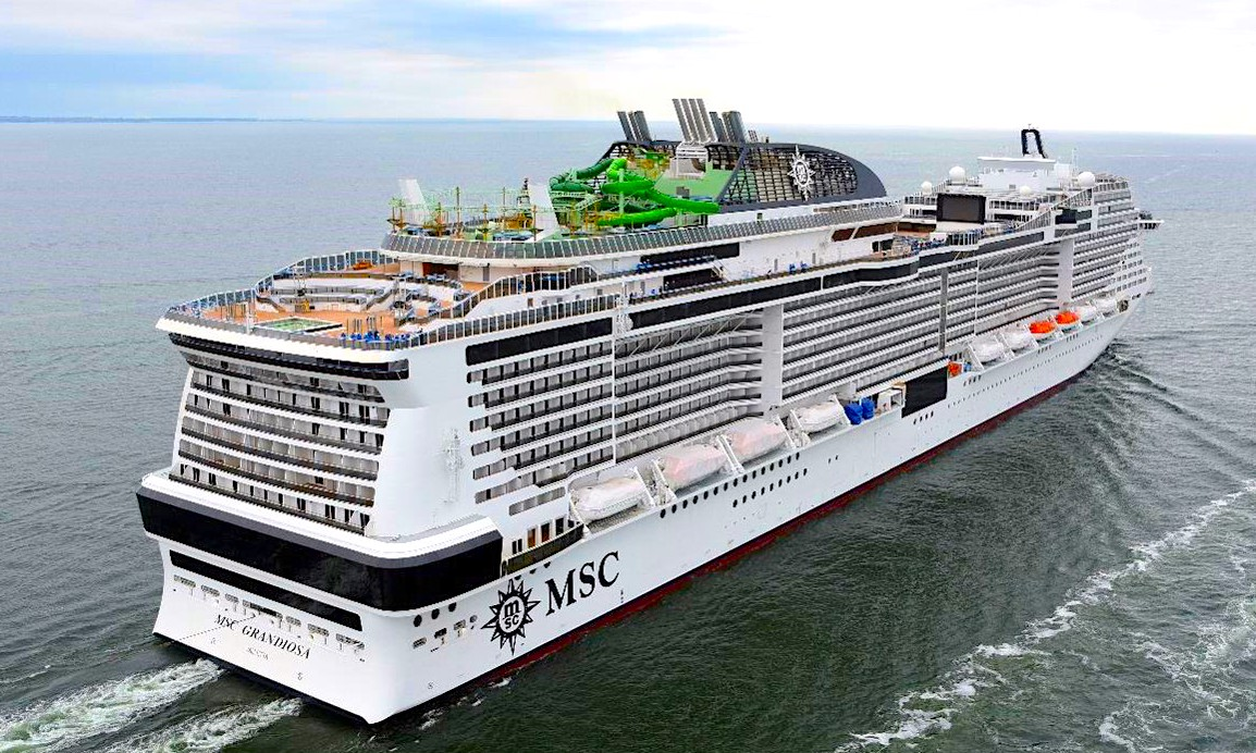 MSC Grandiosa is largest new cruise ship of the year