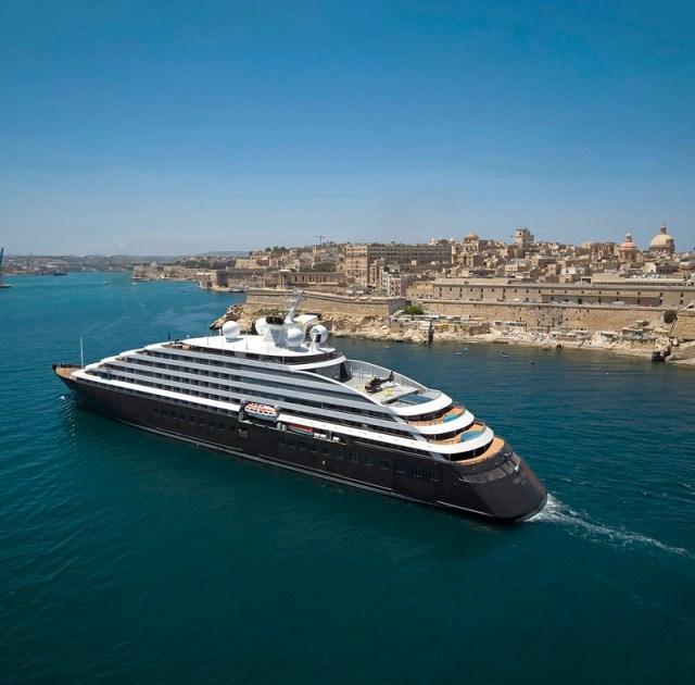 Scenic Eclipse cruise ship at sea