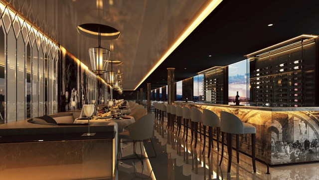 Scenic Eclipse cruise ship Italian and steak restaurant