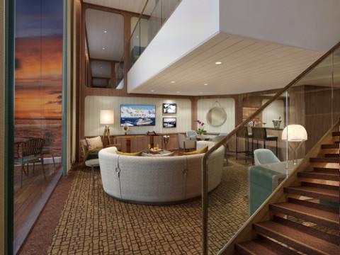Seabourn Venture Wintergarden suite livingroom