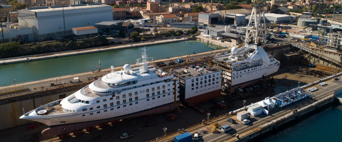 Windstar Cruises Star Breeze gets cut in half to add suites and more