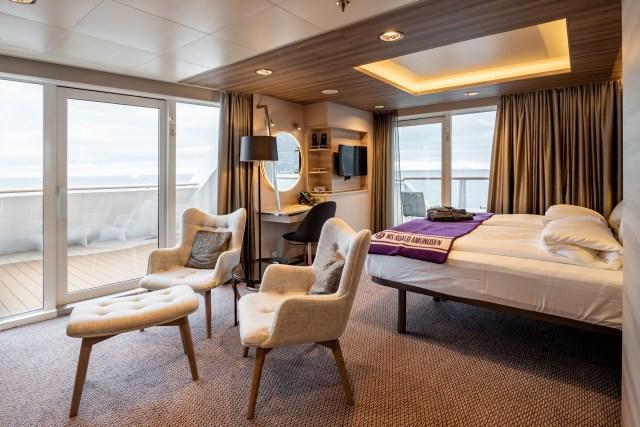 Hurtigruten cruises cruise ship cabin seating