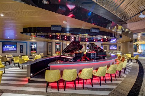Holland America Noordam cruise ship piano bar