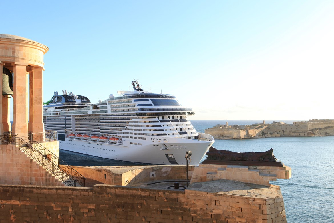 MSC Grandiosa makes maiden call to Malta