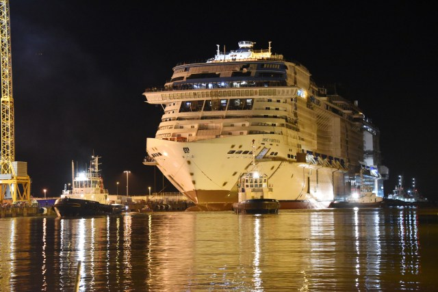 MSC Virtuosa float out bow exterior
