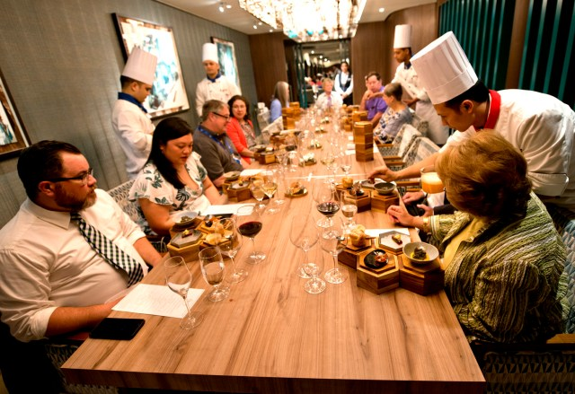 Carnival Sunrise Chef's Table dining