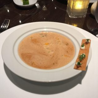 Carnival Cruises Panorama cruise ship Fahrenheit 555 Steakhouse soup