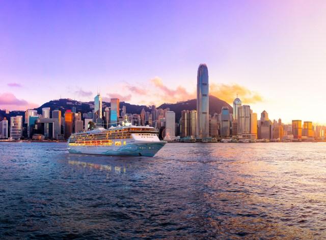 Norwegian Cruise Line Spirit cruise ship in Hong Kong