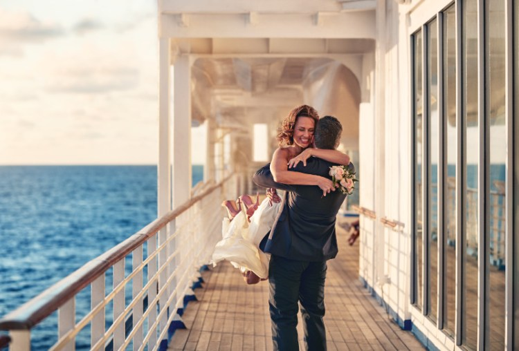 Princess Cruises Vow Renewal on Regal Princess cruise ship
